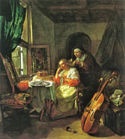 Gabriel Metsu A Woman at her Toilet