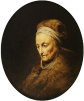 Gerard Dou Rembrandt's Mother