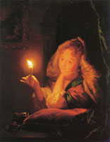 Godfried Schalcken A Girl with a Burning Candle