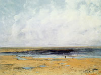 Gustave Courbet Beach at Trouville, low tide