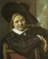 Frans Hals Portrait of a man with a large hat