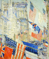 Childe Hassam Allies Day, May 1917