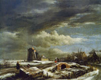 Jacob van Ruisdael Winter landscape