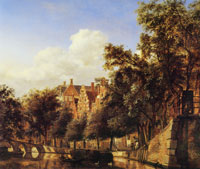 Jan van der Heyden Herengracht Viewed from the Leliegracht, Amsterdam