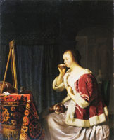Frans van Mieris the Elder A Young Woman at her Dressing-Table