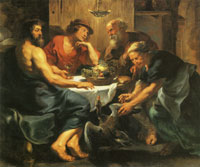 Workshop of Peter Paul Rubens - Jupiter and Mercury with Philemon and Baucis