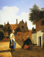 Pieter de Hooch Two Women in a Courtyard