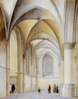 Pieter Saenredam South aisle of the St. Bavokerk, Haarlem