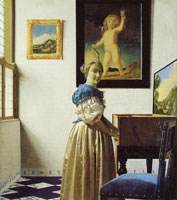 Johannes Vermeer Young Woman Standing at a Virginal