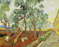 Vincent van Gogh Garden of the Asylum