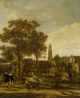 Daniël Vosmaer Delft after the explosion of the powder magazine