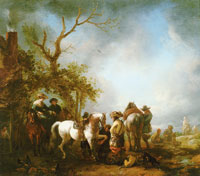 Philips Wouwermans Halt at a Farrier's
