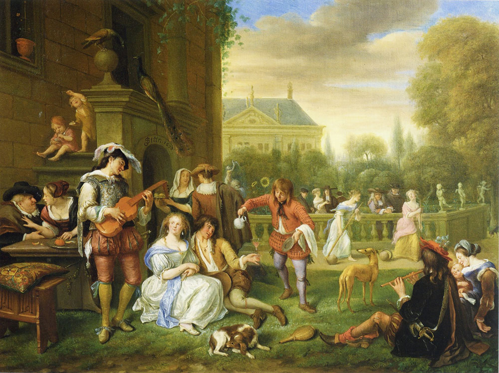 Jan Steen - The Garden Party