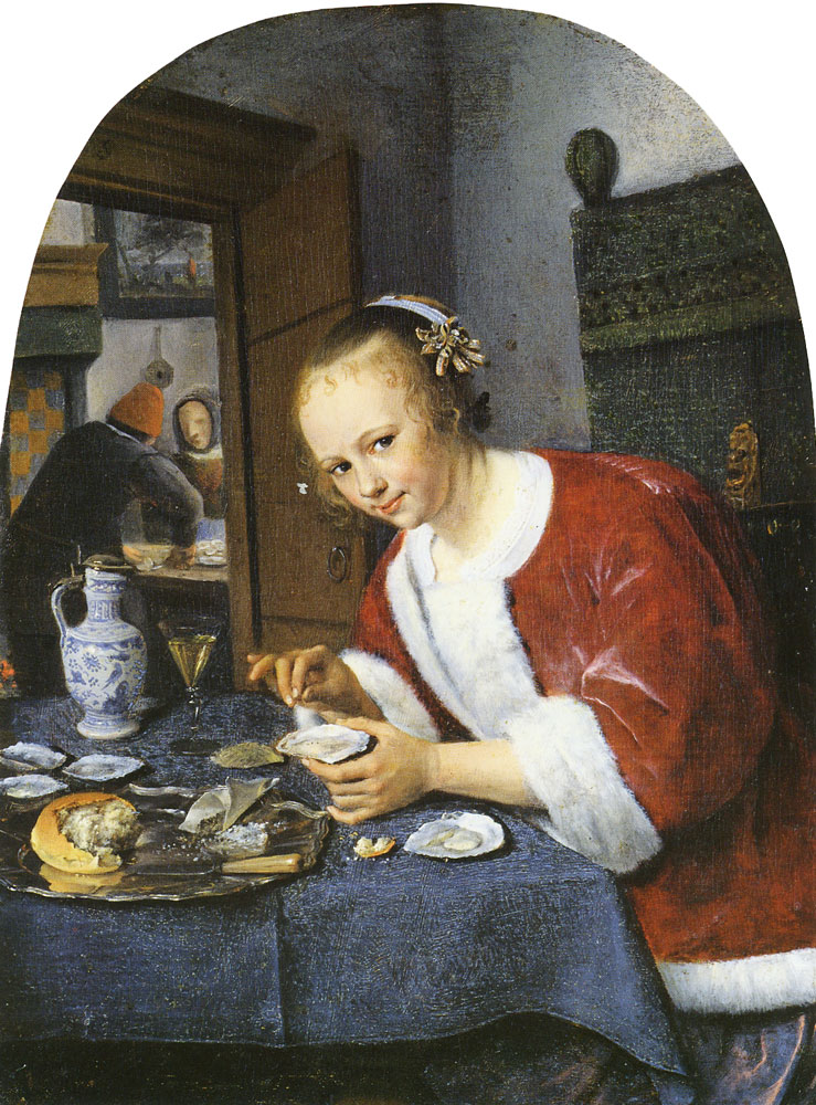 Jan Steen - Girl Offering Oysters