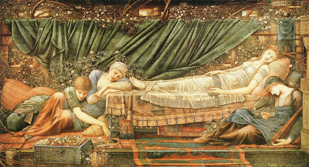 Edward Burne-Jones - The Briar Rose - The sleeping princess