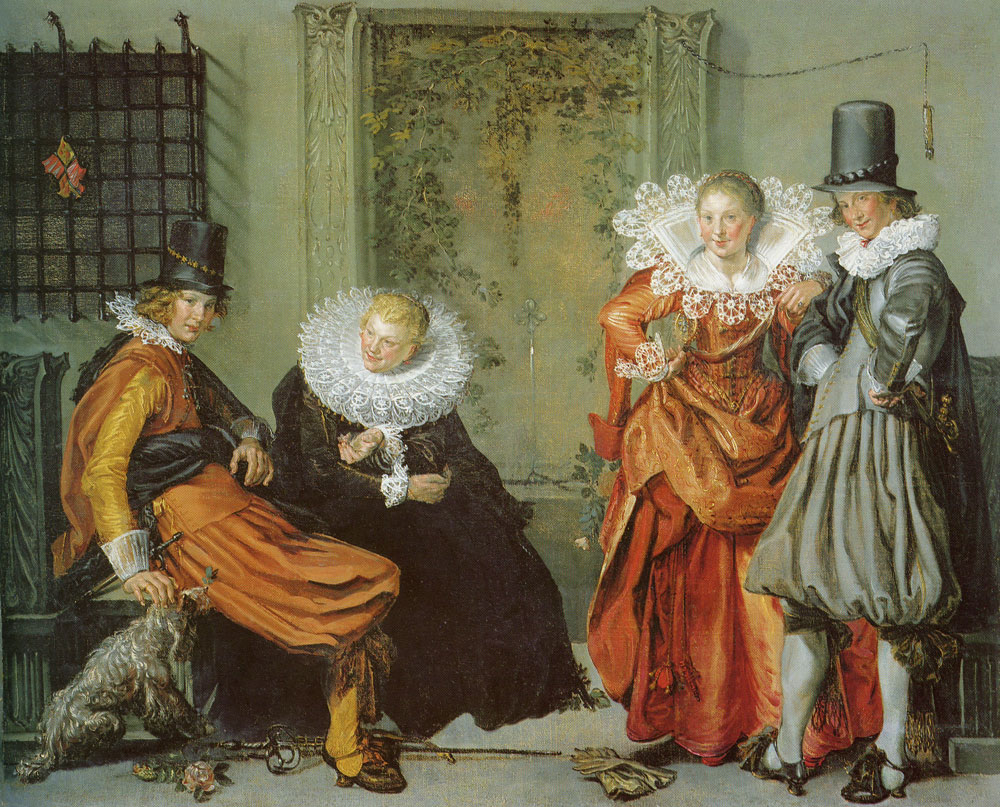 Willem Buytewech - Elegant Couples Courting