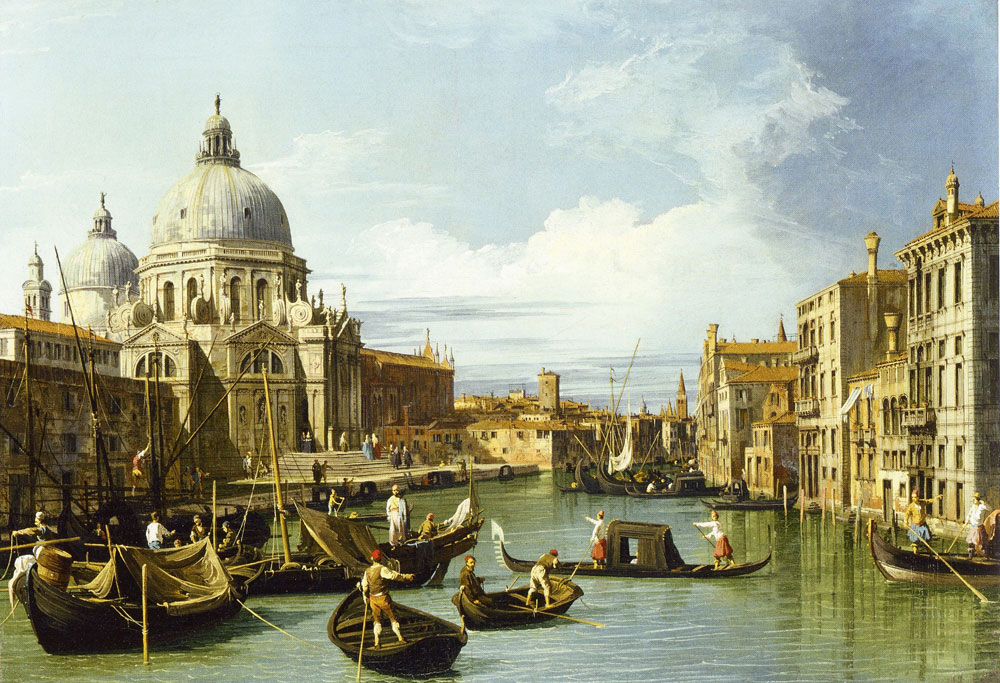 Canaletto - The Entrance to the Grand Canal with Santa Maria della Salute
