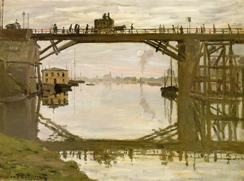 Claude Monet - The highway bridge under repair, Argenteuil