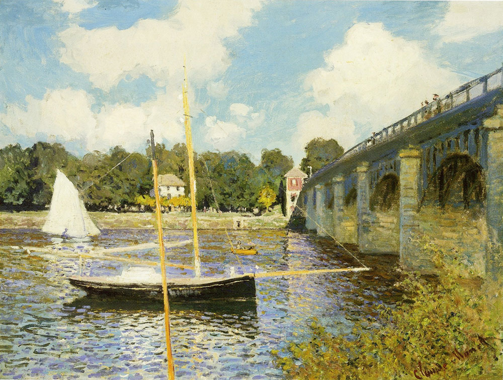 Claude Monet - The highway bridge at Argenteuil