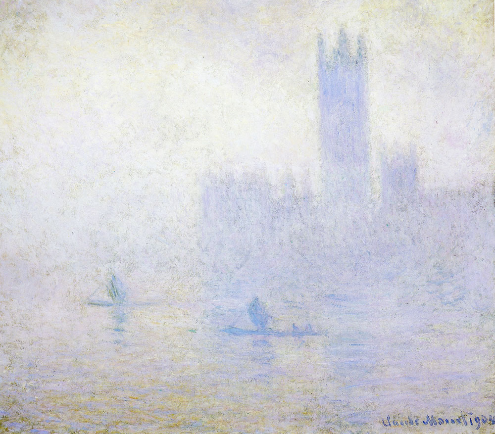 Claude Monet - Houses of Parliament, London, fog effect
