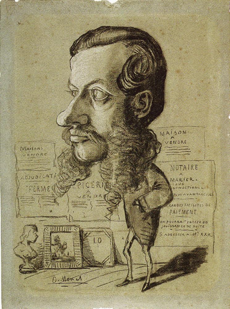 Claude Monet - Caricature of Léon Machon
