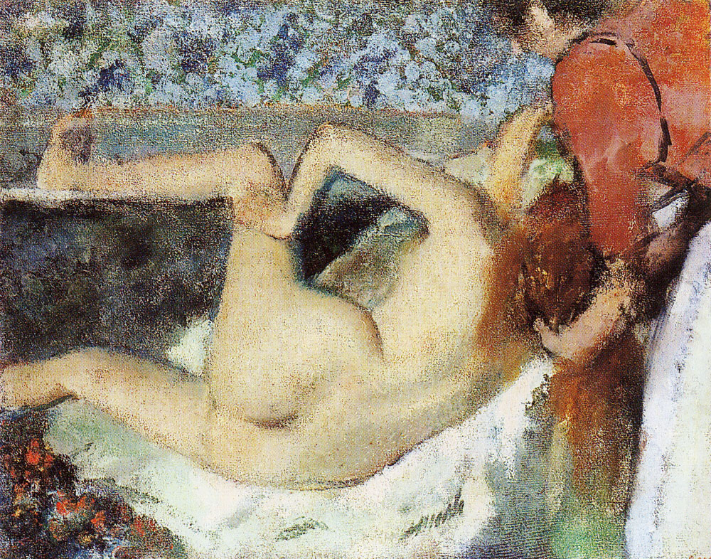 Edgar Degas - After the bath, woman seen from behind