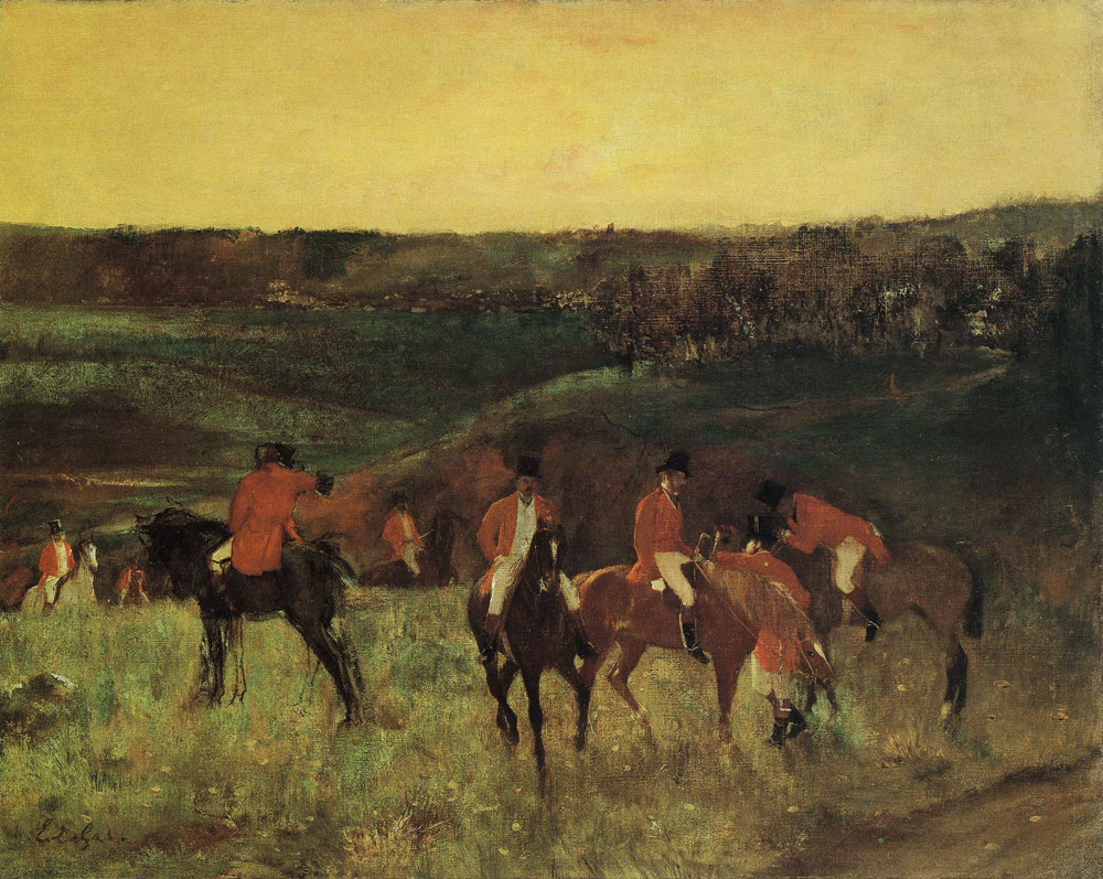 Edgar Degas - Leaving for the hunt