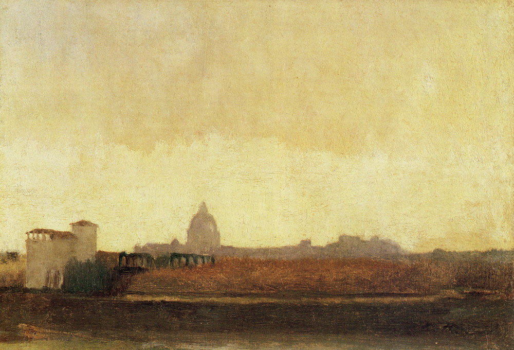 Edgar Degas - View of Rome from the banks of the Tiber