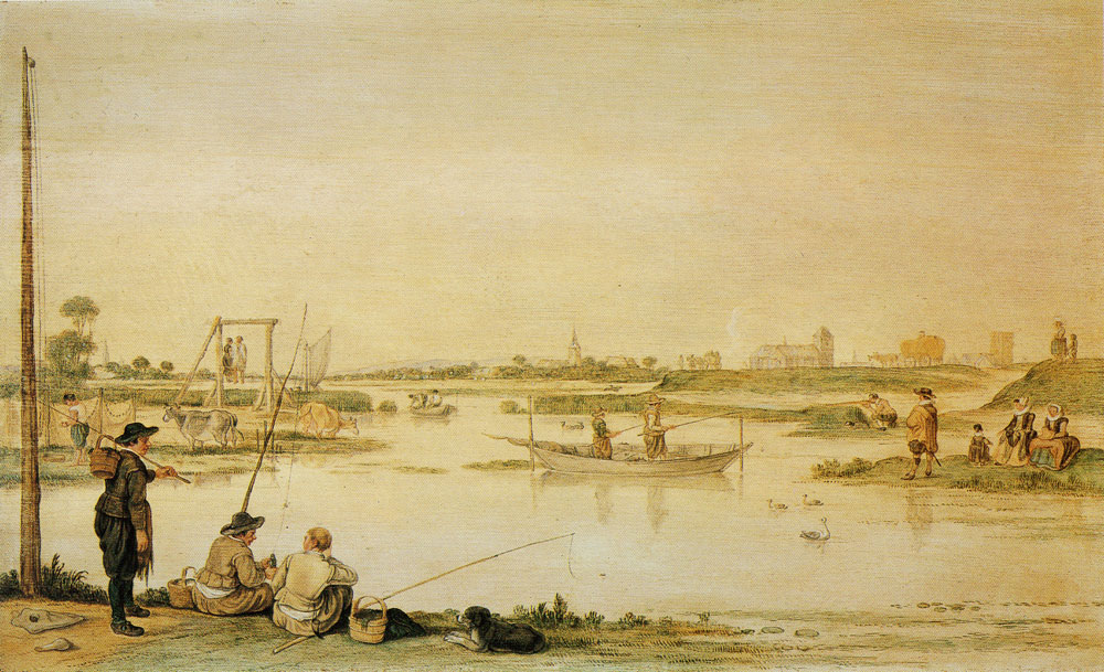 Hendrick Avercamp - Riverscape at Kampen