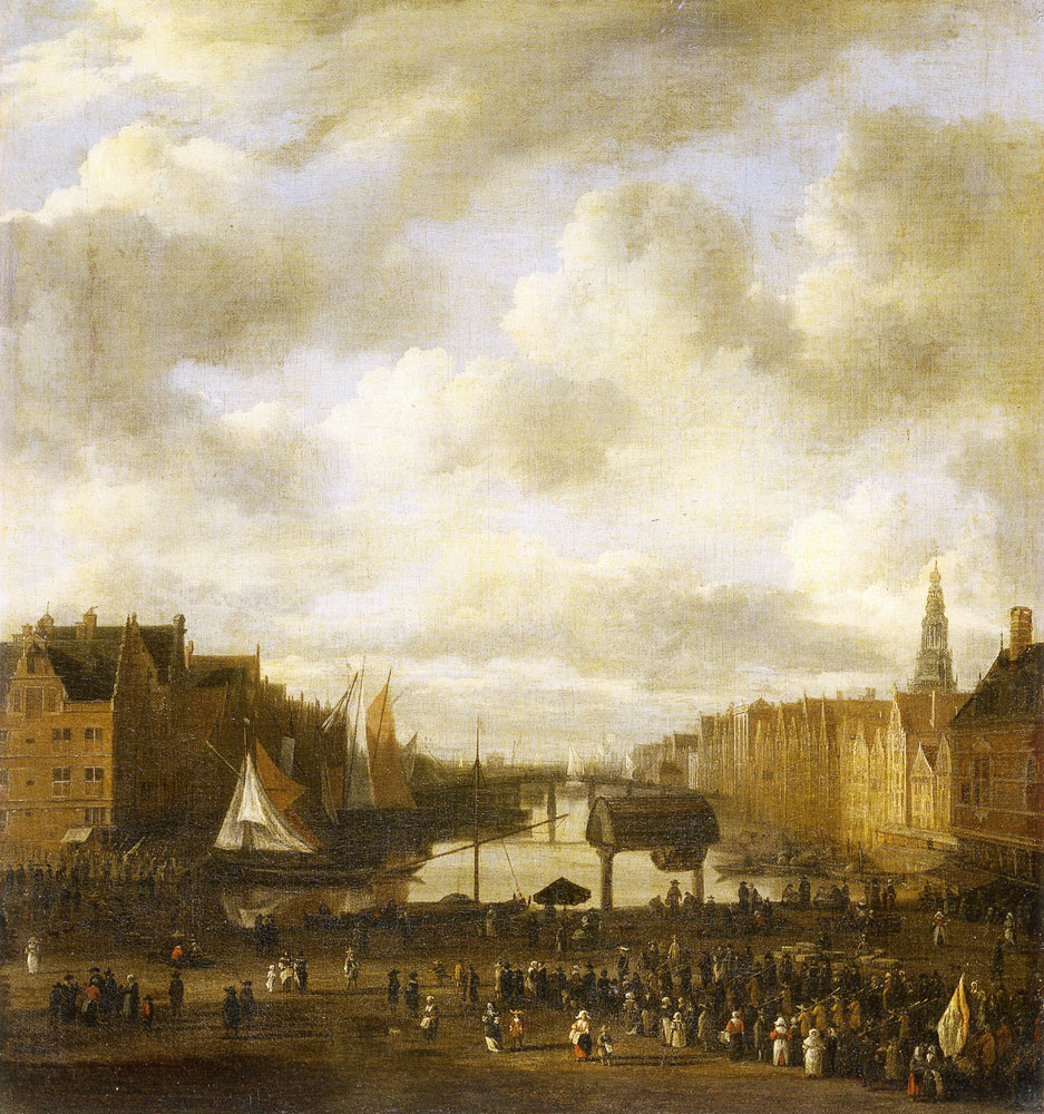 Jacob van Ruisdael - View of Dam Square and the Damrak in Amsterdam