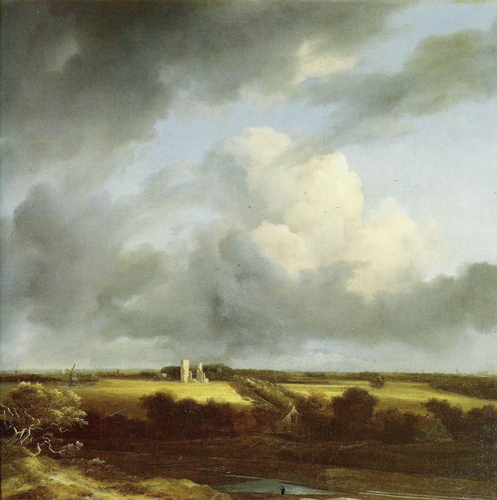Jacob van Ruisdael - View of the Ruins of Huis ter Kleef and Haarlem