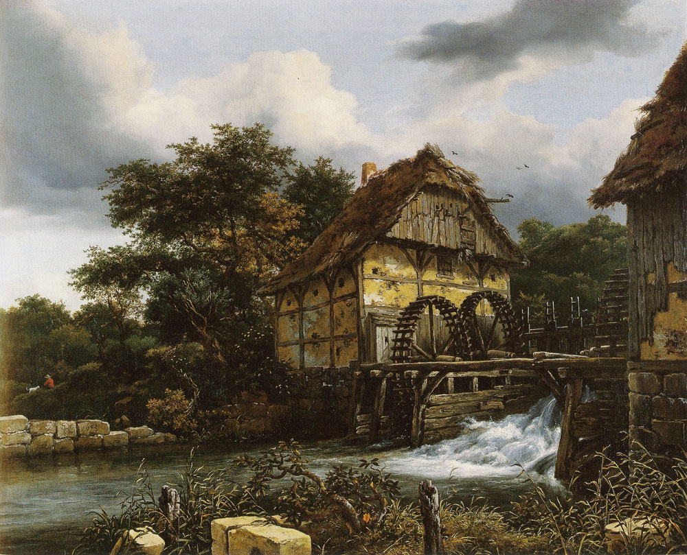 Jacob van Ruisdael - Two Water Mills and an Open Sluice