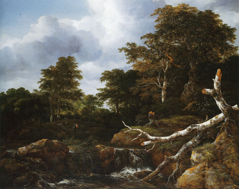 Jacob van Ruisdael - Waterfall in a Hilly Wooded Landscape