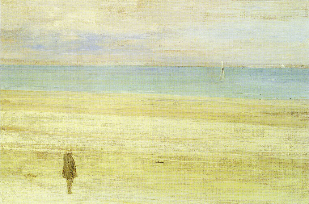 James Abbott McNeil Whistler - Harmony in Blue and Silver: Trouville
