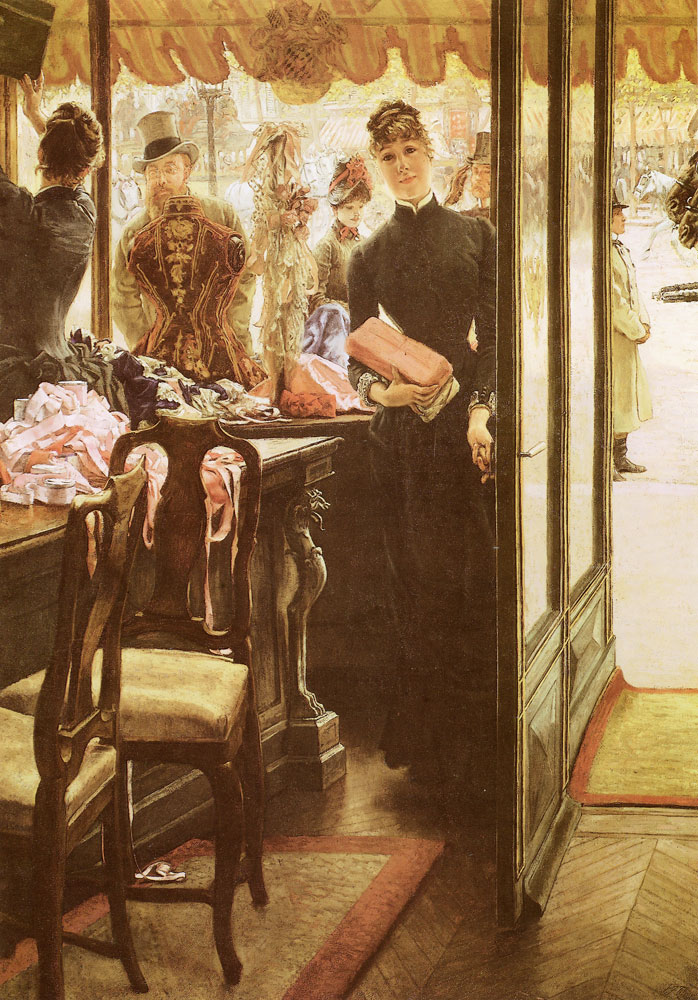 James Tissot - The shop girl