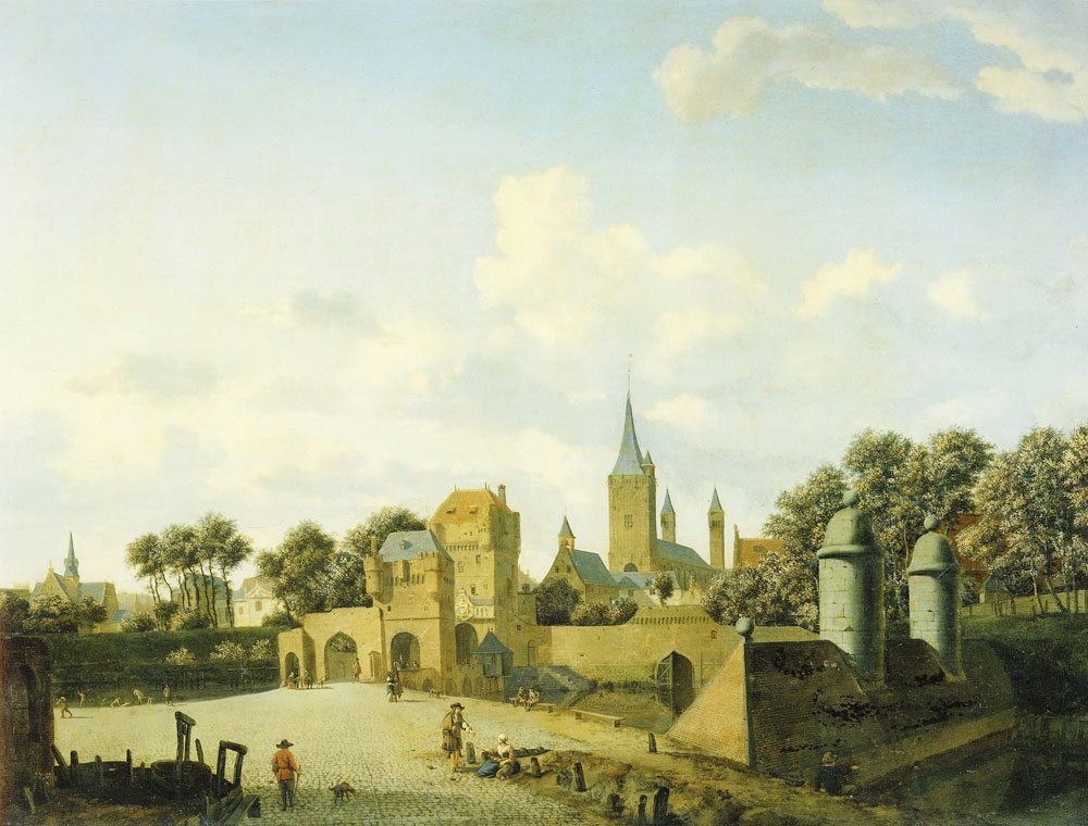 Jan van der Heyden - St. Severin's Church in Cologne in an Imaginary Setting