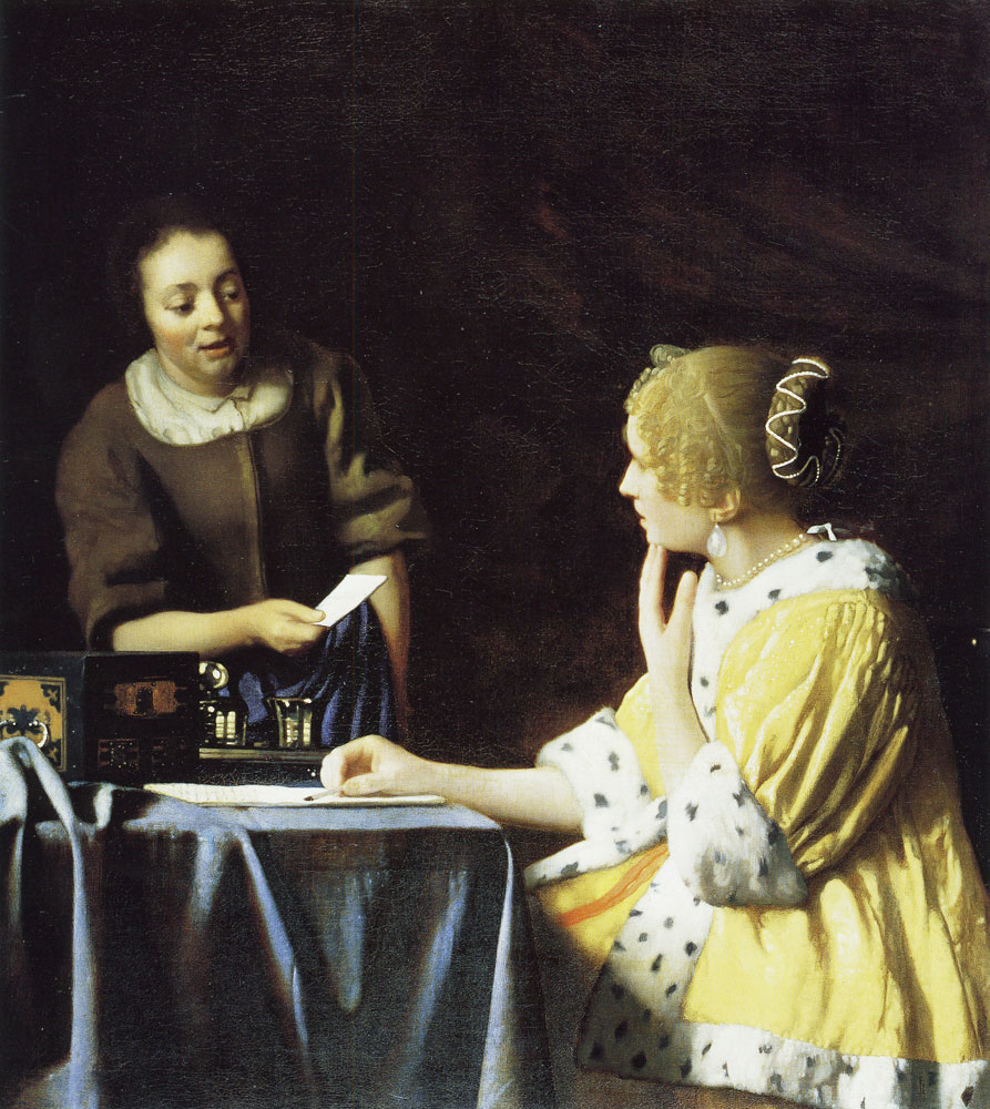 Johannes Vermeer - Mistress and Maid