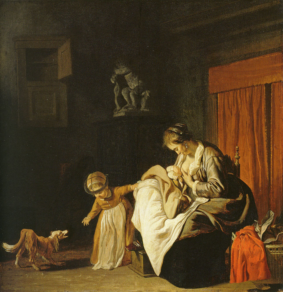Jacob van Loo - Mother with two children