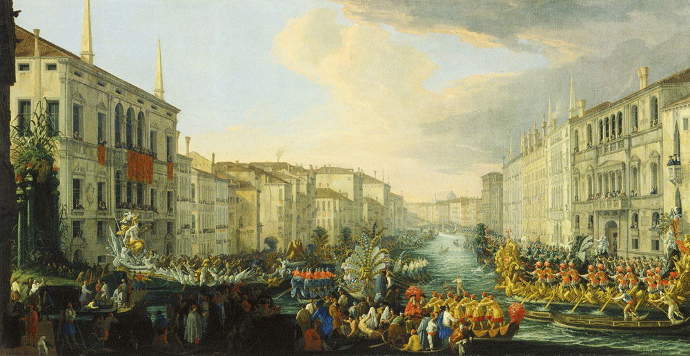 Luca Carlevarijs - The Regatta on the Grand Canal in Honour of Frederick IV, King of Denmark and Norway