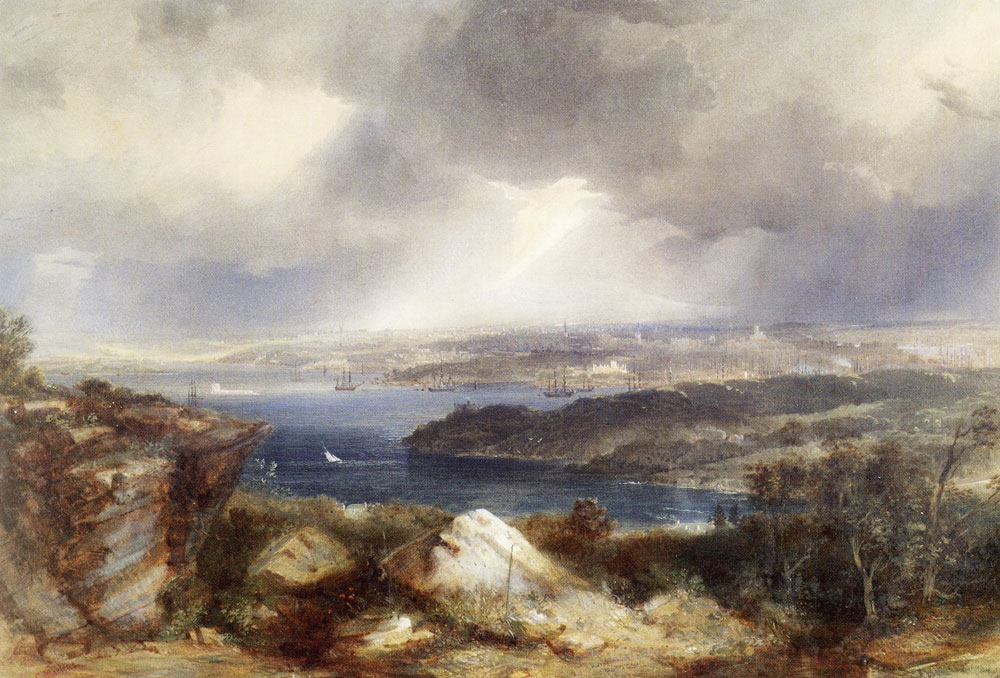 Conrad Martens - View of Sydney from Neutral Bay
