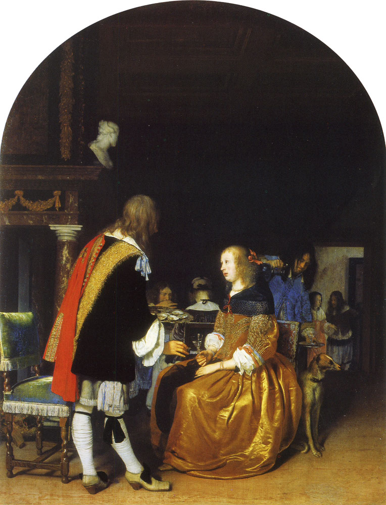 Frans van Mieris the Elder - The oyster meal