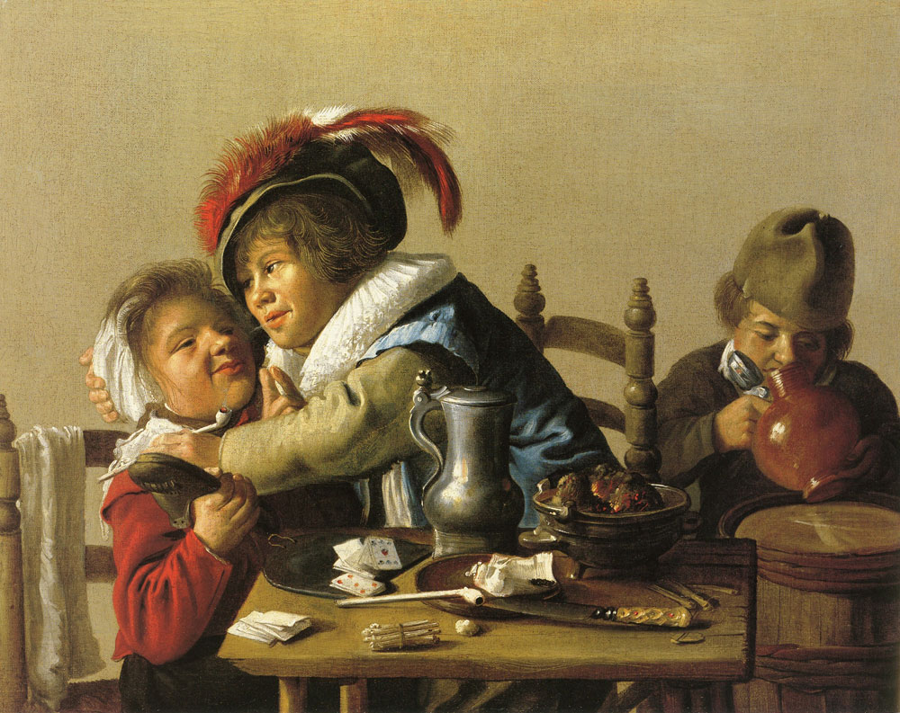 Jan Miense Molenaer - Three children at a table