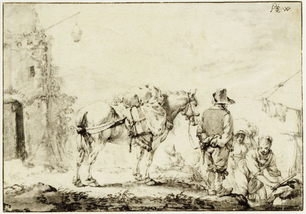 Philips Wouwerman - A man with a horse
