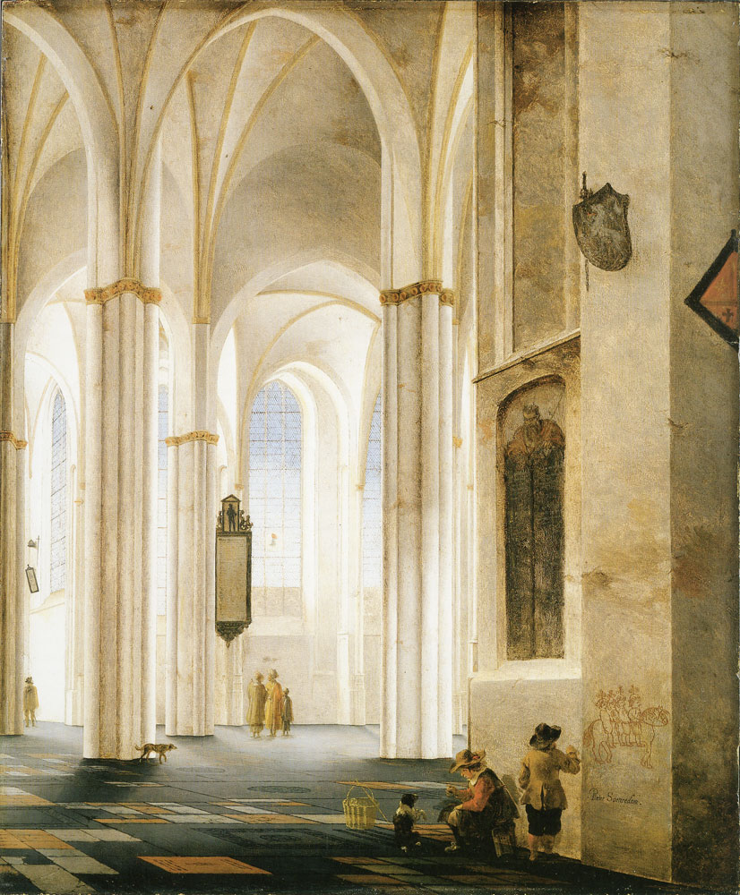 Pieter Saenredam - Nave of the Buurkerk, Utrecht