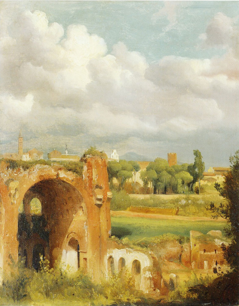 Jean Charles Joseph Remond - View from the Palatine in Rome