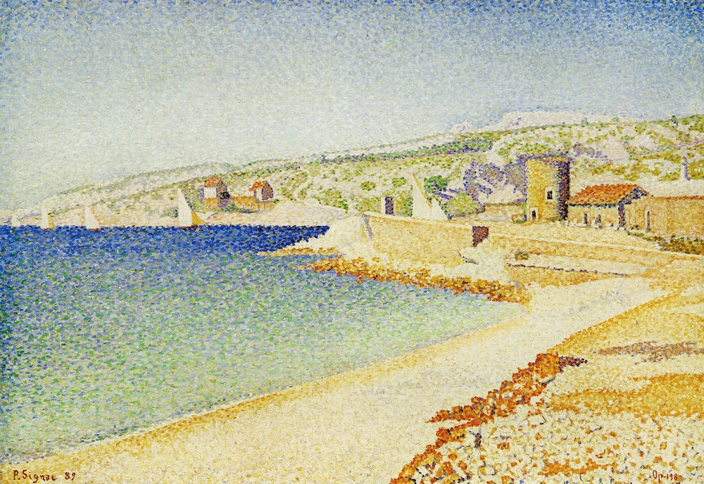 Paul Signac - The Jetty at Cassis, Opus 198