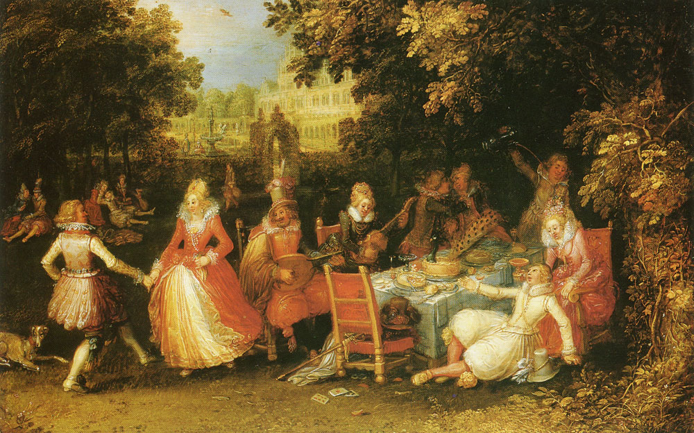 David Vinckboons - Elegant Company in the Open Air