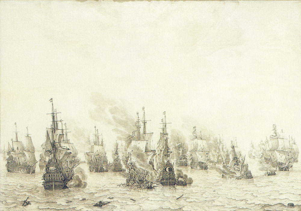 Willem van de Velde the Elder - The Battle of Livorno