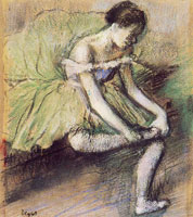 Edgar Degas The green dress