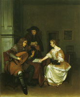 Gerard ter Borch The music lesson
